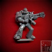 Assault on Black Reach Space Marine with Flamer